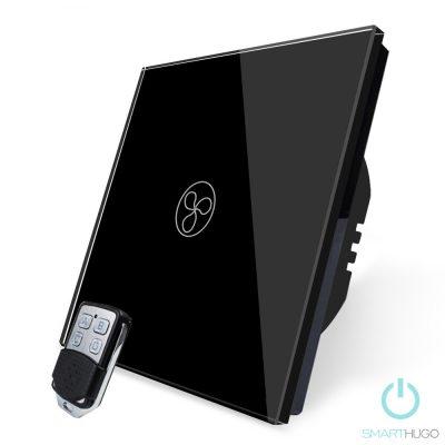 1 Körös Fekete RF Ventilátor Kapcsoló