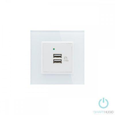 Egyes Fehér Üvegkeretes Dupla USB Csatlakozó