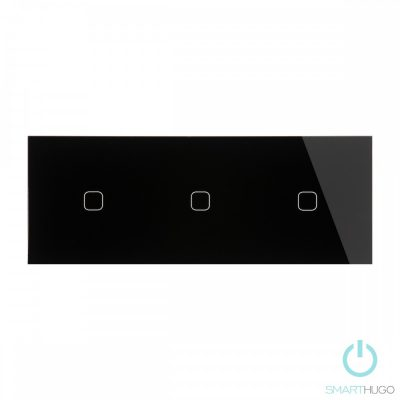 Hármas sorolt Fekete Érintőpanel 1 + 1 + 1 Kör