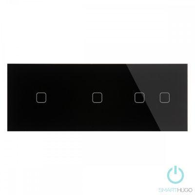 Hármas sorolt Fekete Érintőpanel 1 + 1 + 2 Kör