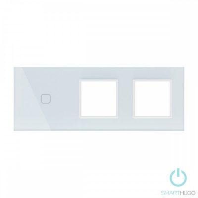 Hármas sorolt Fehér Érintőpanel  1 kör + Dupla Üveg Sorolókeret