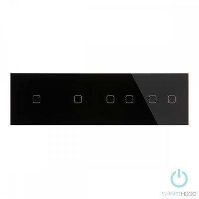 Négyes sorolt Fekete Érintőpanel 1 + 1 + 2 + 2 Kör