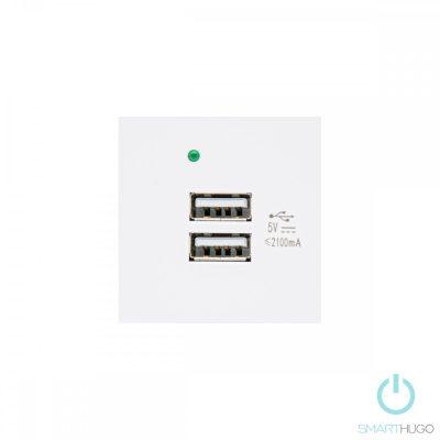 Fehér Dupla USB Csatlakozó
