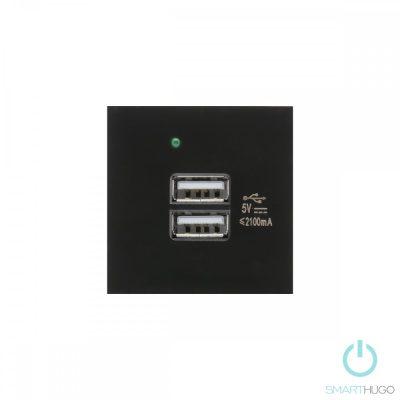Dupla Fekete USB Csatlakozó