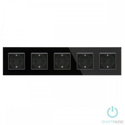 Ötös Sorolt Fekete Üvegkeretes Konnektor