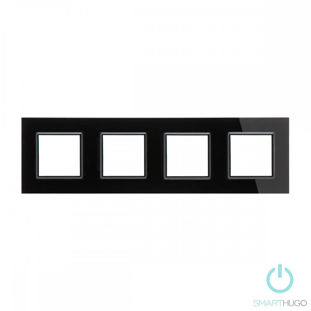 Négyes Fekete Üveg Sorolókeret